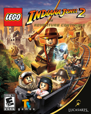 Cover for Lego Indiana Jones 2: The Adventure Continues.