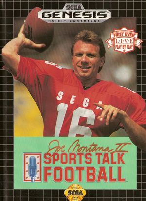 Cover for Joe Montana II Sports Talk Football.