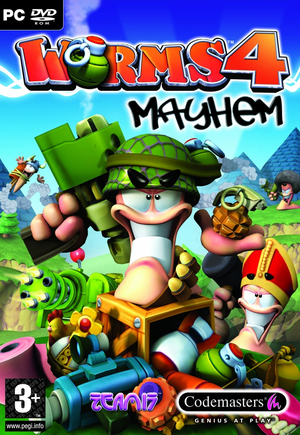 Cover for Worms 4: Mayhem.