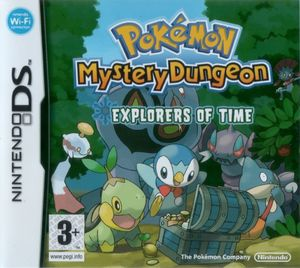 Cover for Pokémon Mystery Dungeon: Explorers of Time.