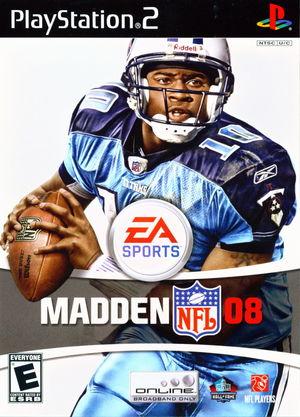 Cover for Madden NFL 08.