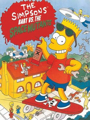 Cover for The Simpsons: Bart vs. the Space Mutants.