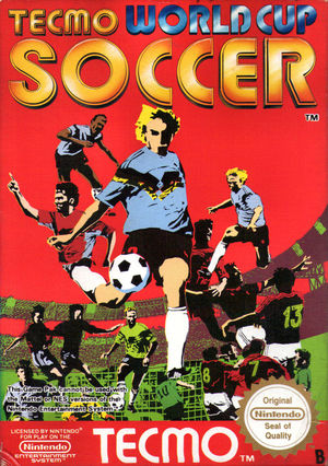 Cover for Tecmo World Cup Soccer.