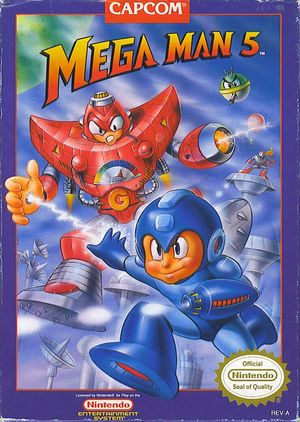 Cover for Mega Man 5.
