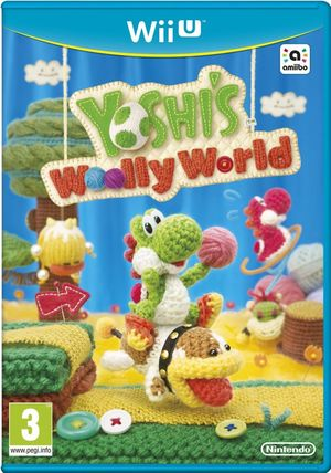 Cover for Yoshi's Woolly World.