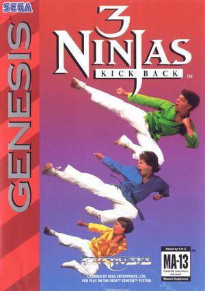 Cover for 3 Ninjas Kick Back.