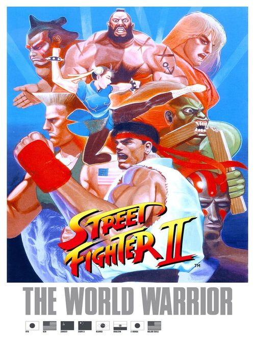 Cover for Street Fighter II: The World Warrior.