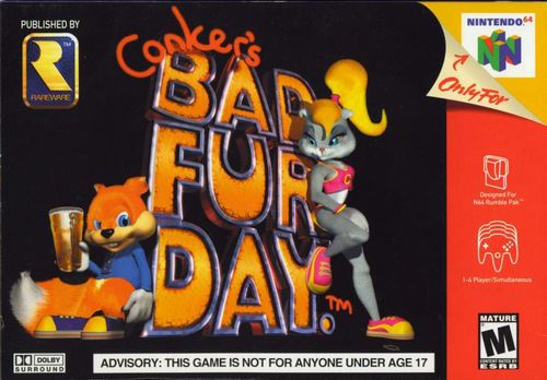 Cover for Conker's Bad Fur Day.