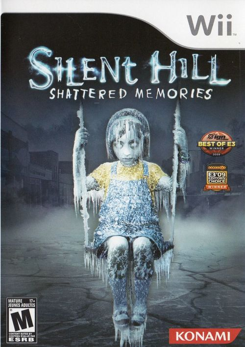 Cover for Silent Hill: Shattered Memories.
