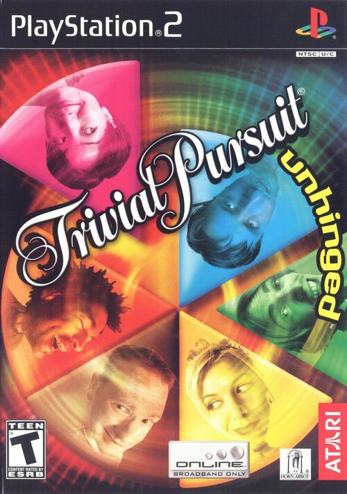 Cover for Trivial Pursuit: Unhinged.