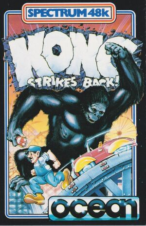 Cover for Kong Strikes Back!.