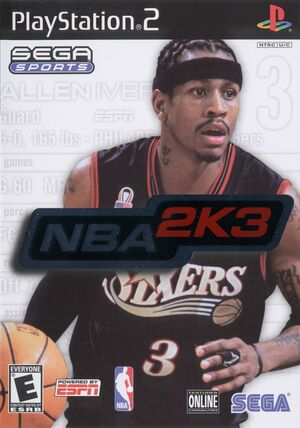 Cover for NBA 2K3.