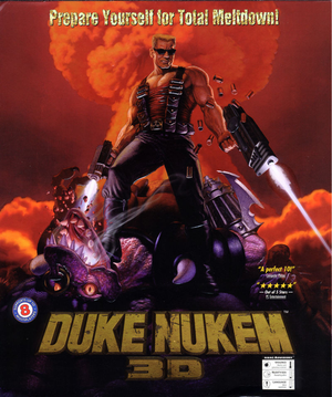 Cover for Duke Nukem 3D.