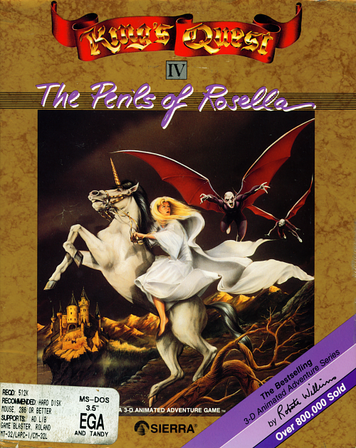 Cover for King's Quest IV: The Perils of Rosella.