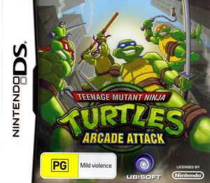 Cover for Teenage Mutant Ninja Turtles: Arcade Attack.