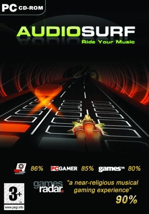 Cover for Audiosurf.