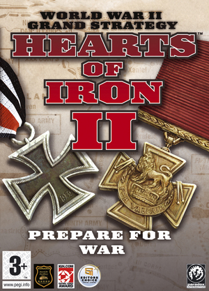 Cover for Hearts of Iron II.