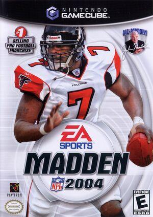 Cover for Madden NFL 2004.