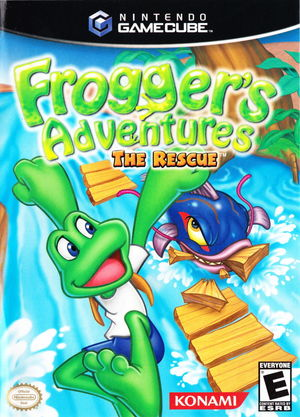 Cover for Frogger's Adventures: The Rescue.