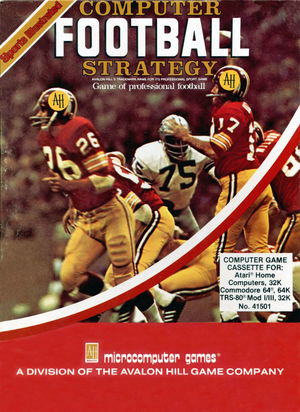 Cover for Computer Football Strategy.