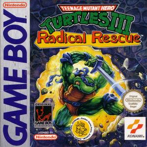 Cover for Teenage Mutant Ninja Turtles III: Radical Rescue.