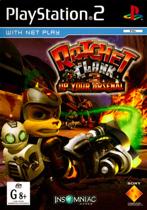 Cover for Ratchet & Clank: Up Your Arsenal.