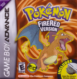 Cover for Pokémon FireRed.