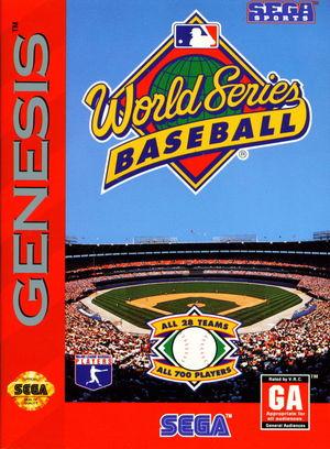 Cover for World Series Baseball.
