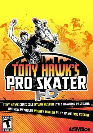 Cover for Tony Hawk's Pro Skater HD.