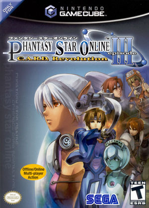 Cover for Phantasy Star Online Episode III: C.A.R.D. Revolution.