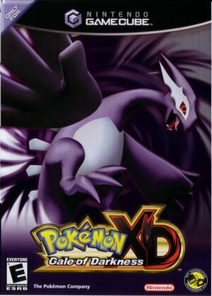 Cover for Pokémon XD: Gale of Darkness.