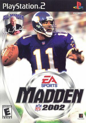 Cover for Madden NFL 2002.