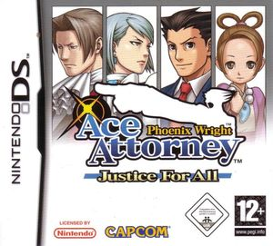 Cover for Phoenix Wright: Ace Attorney − Justice for All.