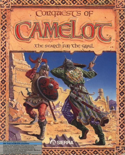 Cover for Conquests of Camelot: The Search for the Grail.