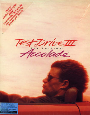 Cover for Test Drive III: The Passion.