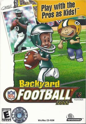 Cover for Backyard Football 2002.