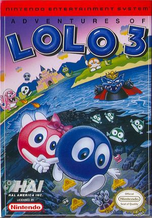 Cover for Adventures of Lolo 3.