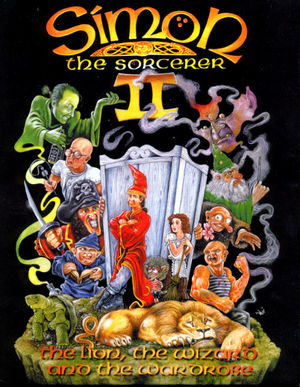 Cover for Simon the Sorcerer II: The Lion, the Wizard and the Wardrobe.