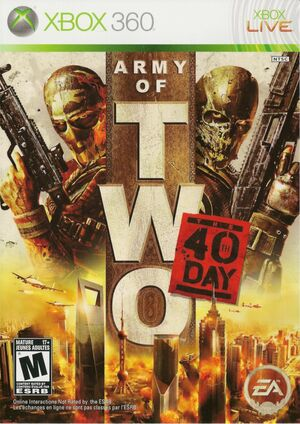 Cover for Army of Two: The 40th Day.