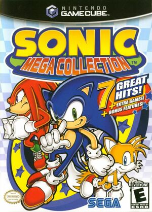 Cover for Sonic Mega Collection.