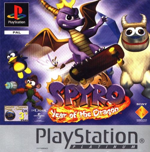 Cover for Spyro: Year of the Dragon.