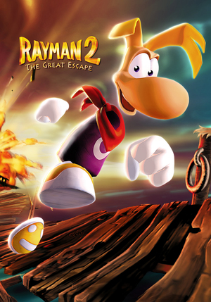 Cover for Rayman 2: The Great Escape.