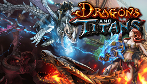 Cover for Dragons and Titans.