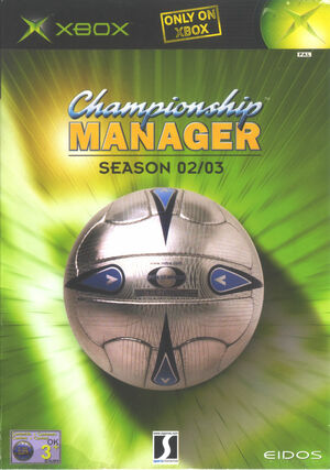 Cover for Championship Manager: Season 02/03.