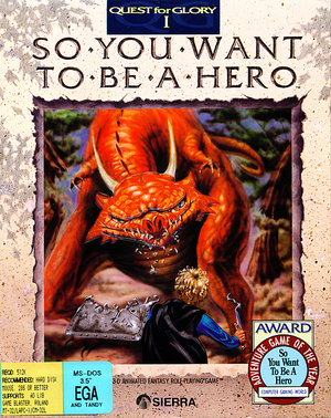 Cover for Quest for Glory: So You Want to Be a Hero.