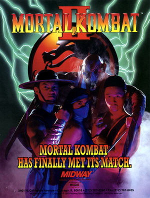 Cover for Mortal Kombat II.