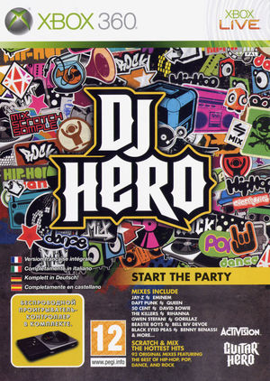 Cover for DJ Hero.