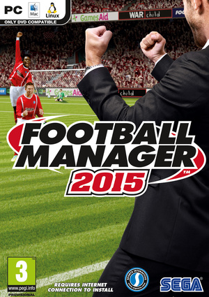 Cover for Football Manager 2015.