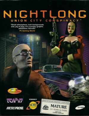 Cover for Nightlong: Union City Conspiracy.