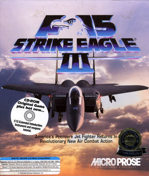 Cover for F-15 Strike Eagle III.